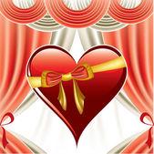Valentine Day Background. Vector Illustration. Heart. — Stock Vector