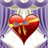 Valentine Day Background. Vector Illustration. Heart. — Vector de stock