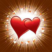 Valentine tag hintergrund. — Stockvektor
