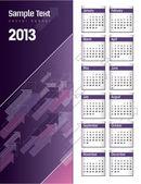 Calendrier 2013. — Vecteur