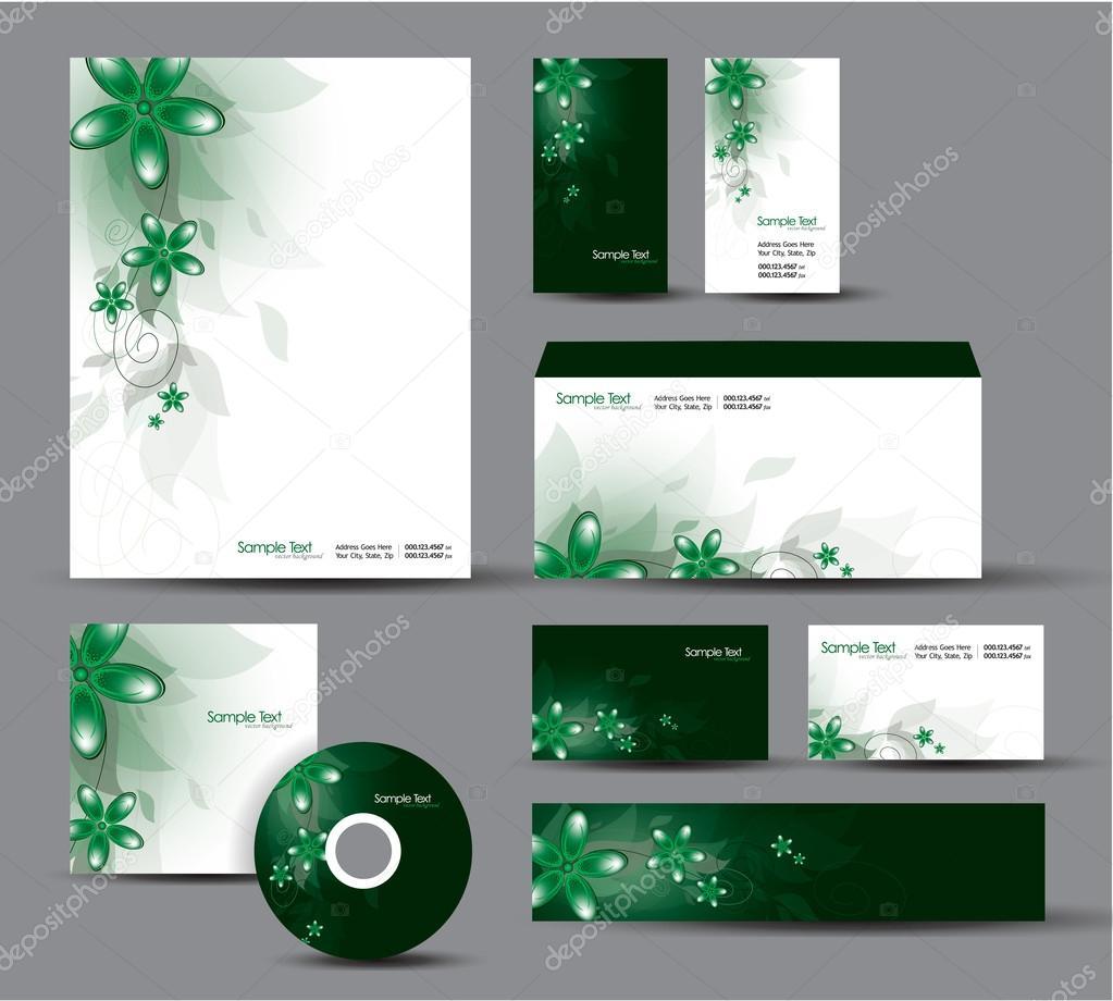 Modern Identity Package Vector Design Letterhead