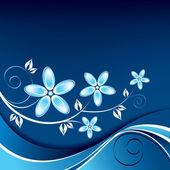Fond floral. illustration vectorielle. — Vecteur