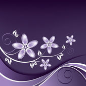 Tle kwiatów. Ilustracja wektorowa. — Wektor stockowy