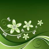 Fundo floral. ilustração vetorial. — Vetorial Stock