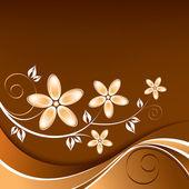花卉背景。矢量插画. — 图库矢量图片