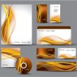 Stockvektor : Modern Identity Package. Vector Design. Letterhead, business cards, cd, dvd, envelope, banner, header.