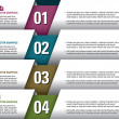 Modern Vector Design Template. Numbered Banners. Graphic or Website Layout. Eps10. — Imagen vectorial