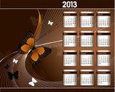 2013 Calendar. — Vector de stock