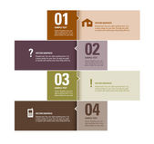 Modern Vector Design Template. Numbered Banners. Graphic or Website Layout. Eps10. — Stock Vector