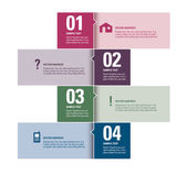 Modern Vector Design Template. Numbered Banners. Graphic or Website Layout. Eps10. — Vettoriale Stock