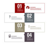 Modern Vector Design Template. Numbered Banners. Graphic or Website Layout. — 图库矢量图片