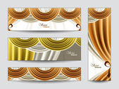 Set of Vector Banners. Abstract Background. — Stock Vector