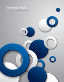 Abstract Vector Background with 3D Circles. — Stockvektor