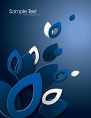 Abstract Vector Background with 3D Leaves. — Stockvektor