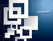 Abstract Vector Background with 3D Squares. — Wektor stockowy