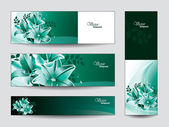 Vector Banners with Lily Flowers. — Stock Vector