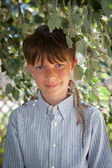 Portrait of a 10 year old boy — Stock Photo