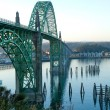 Yaquina Bay Bridge in Newport, OR — Stock Photo