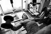 Bodybuilder training gym — Foto de Stock