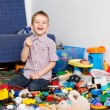 Kid at home playing — Stock Photo #27865193
