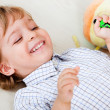 Kid at home playing — Stock Photo #27865207