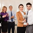 Stock Photo: Business people celebrating their victory