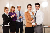 Business people celebrating their victory — Stock Photo