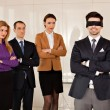 Young businessman eyes covered — Stock Photo