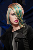 Model with dyed hair — Stok fotoğraf