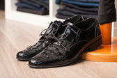 A pair of leather shoes — Stock Photo