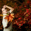 Autumn woman. — Stock Photo