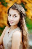 Autumn woman. — Stock Photo