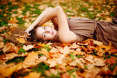 Autumn woman. — Foto de Stock