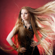 Woman with long hair — Stockfoto