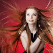 Woman with long hair — Stock Photo #27076035