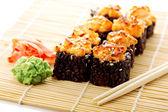 Sushi with black rice — Stock Photo