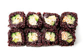 Sushi with black rice — Stock Photo