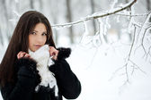 Beauty winter woman — Stock Photo