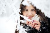 Beauty winter woman — Stock Photo