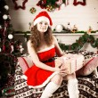 Beautiful christmas woman — Stock Photo #27082523