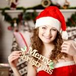 Beautiful christmas woman — Stock Photo #27082543