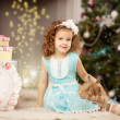 Little winter fairy tale girl — Foto de Stock
