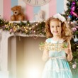 Little cute smiling сhristmas girl — Stock Photo