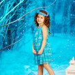 Little winter fairy tale girl — Stock Photo #27082711