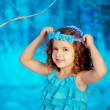 Stockfoto: Little winter fairy tale girl