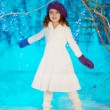Little winter fairy tale girl — Stock Photo