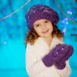 Little winter fairy tale girl — Stock Photo #27082861