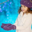Little winter fairy tale girl — Stock Photo #27082863