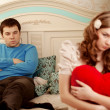 Two lovers quarrel at home — Stock Photo #27083847