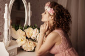 Woman in the boudoir — Stock Photo